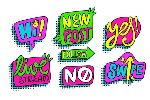 Social media slang und worte
