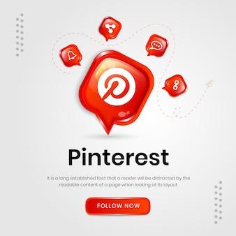 Social-media-symbole pinterest-banner