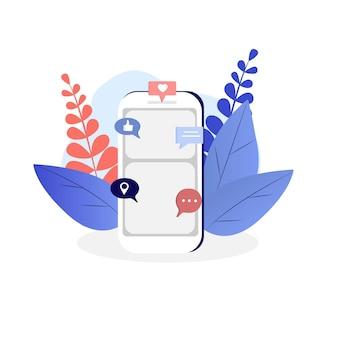 Social-media-symbole und handy-vektor-hintergrund