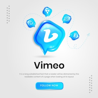Social-media-symbole vimeo-banner