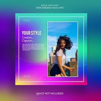 Social media template farbverlauf bunt