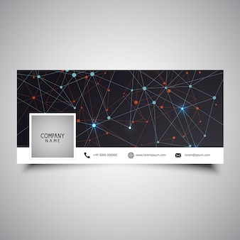 Social-media-timeline-cover-design mit low-poly-design