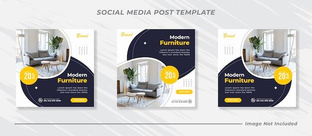 Social-media- und instagram-post-vorlage für möbel