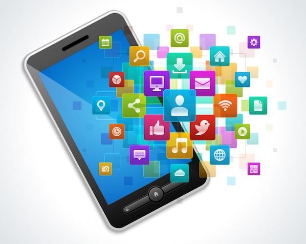 Social media und mobiles smartphone