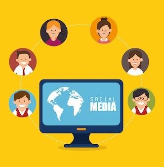 Social media und netzwerk