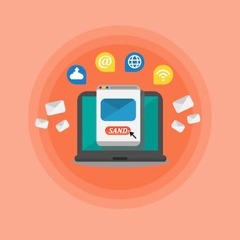 Social media und vernetzungskonzept