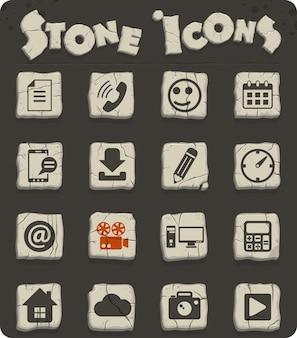 Social media-vektorsymbole für web- und benutzeroberflächendesign