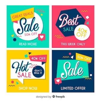 Social Media-Verkauf-Banner-Sammlung