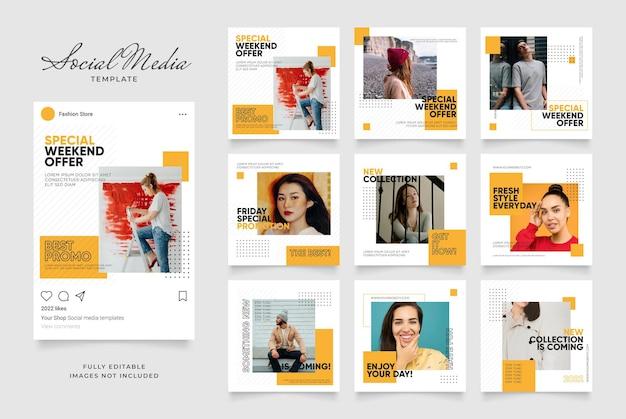 Social media vorlage banner blog mode verkaufsförderung.