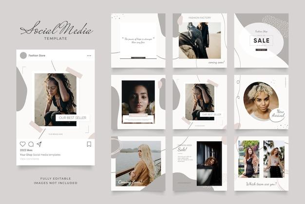Social media vorlage banner blog modeverkauf promotion.