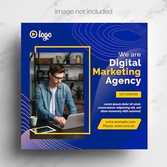 Social media-vorlage für digitales marketing