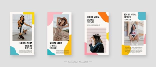 Social media vorlage. trendige bearbeitbare vorlage für social media-geschichten.