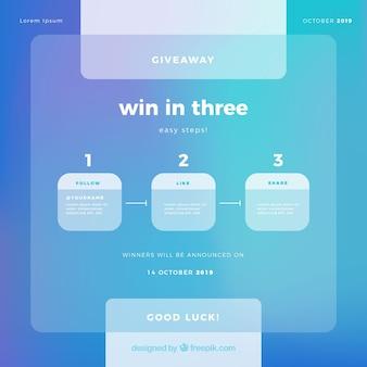 Social-media-wettbewerb design