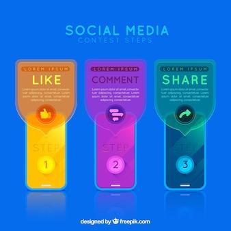 Social-media-wettbewerb schritte