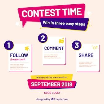 Social-Media-Wettbewerbsseite