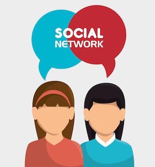 Social network media zusammensetzung