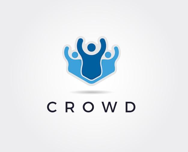 Social network team partner freunde logo partner