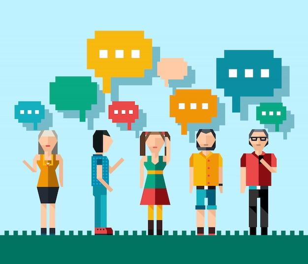 Social people-konzept