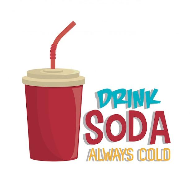 Soda-getränk trinken isoliert
