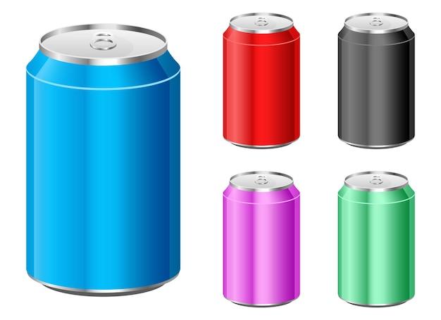 Soda kann designillustration isoliert einstellen