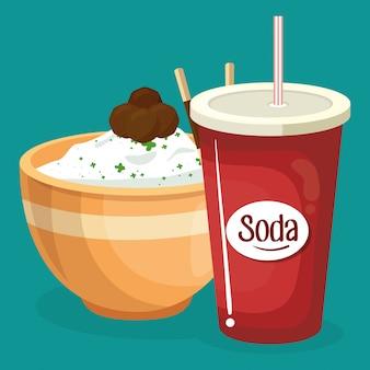 Soda mit reis fast food