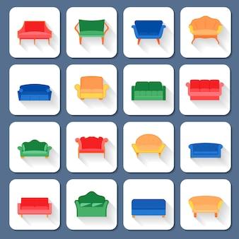 Sofa icons wohnung
