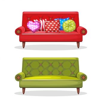 Sofa weich bunt hausgemacht
