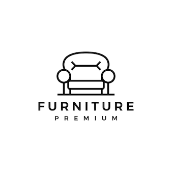 Sofamöbelinnenstuhllogoschablone