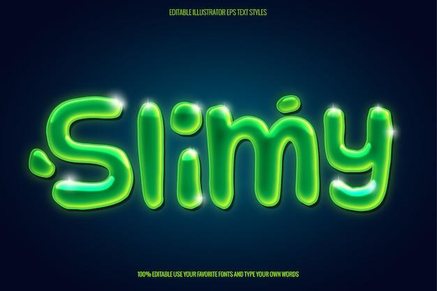 Sofortiger slime-textstil mit slime-text-effekt