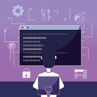 Software-programmierer-karikatur