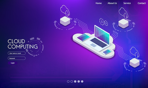 Software, webentwicklung, cloud-programmierkonzept.