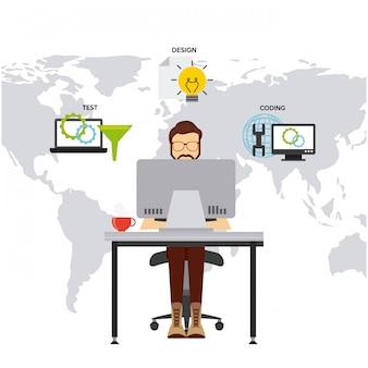 Softwareentwickler und programmierer