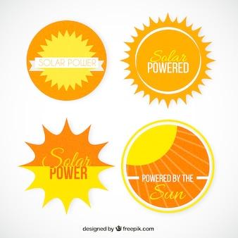 Solarstrom-etiketten