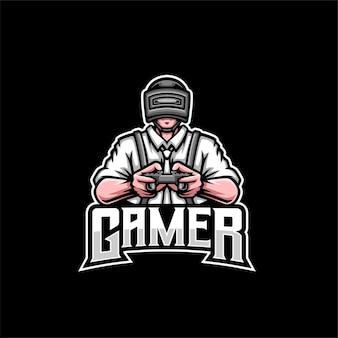 Soldat gamer maskottchen logo