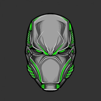Soldat mask 5-vektor-illustration