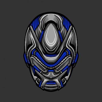 Soldat mask 8 vektor-illustration