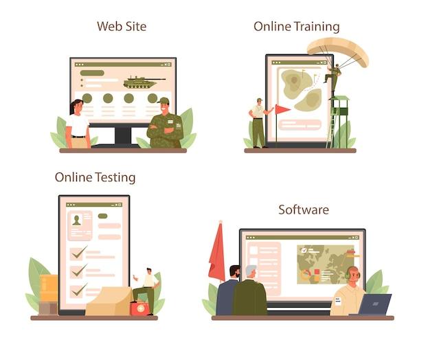 Soldat online-dienst oder plattform-set