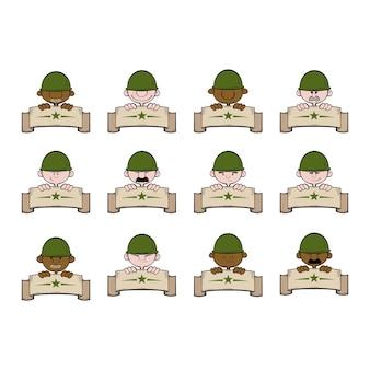 Soldaten banner cartoon