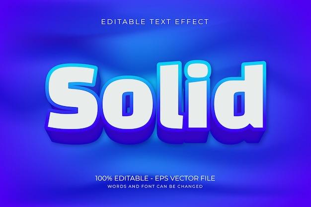 Solider bearbeitbarer texteffekt premium-vektor