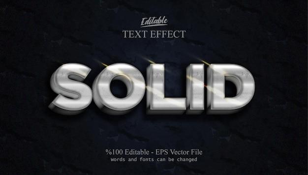Solider bearbeitbarer texteffekt