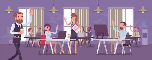Solides und leistungsstarkes team im büro