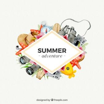 Sommer-abenteuer mit aquarellen