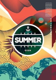 Sommer abstrakter hintergrund mit gemischten texturen