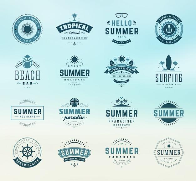 Sommer-abzeichen gesetzt