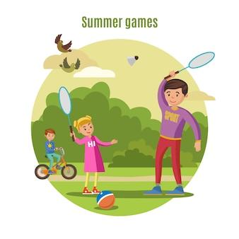 Sommer active leisure konzept