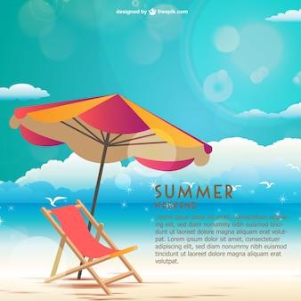 Sommer am meer wochenende vektor