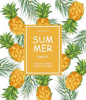 Sommer ananas muster