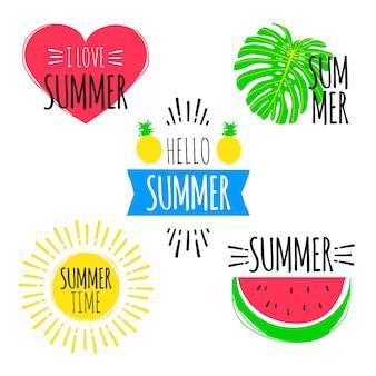 Sommer-aufkleber eingestellt