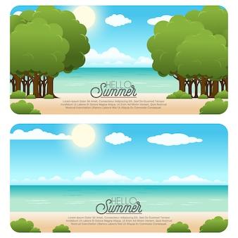Sommer-banner-set