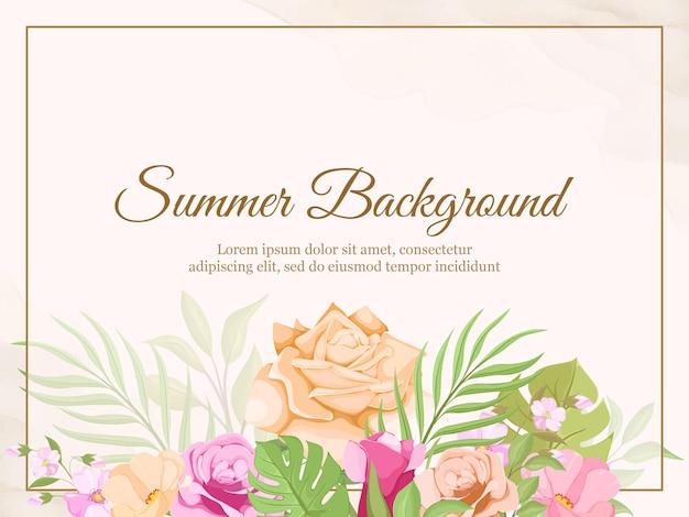 Sommer blumenrahmen vorlage.